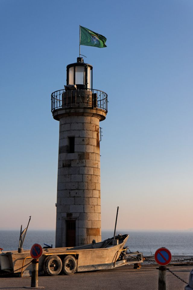 Lighthouse at the Port of Cancale, France