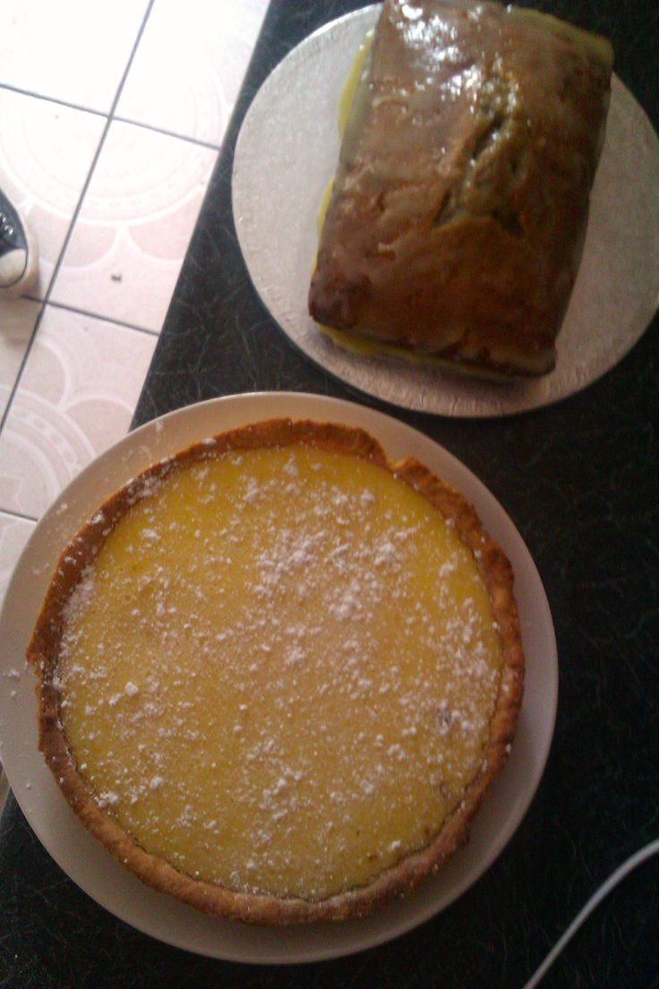 Mary Berry's Tarte au Citron and an Earl Grey tea loaf for our tea party.