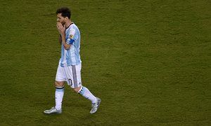 Lionel Messi contemplates his missed penalty in the shoot-out