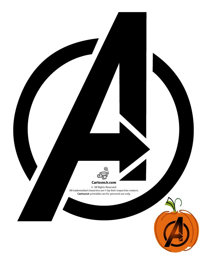 The Avengers Logo Pumpkin Template Fun Randoms