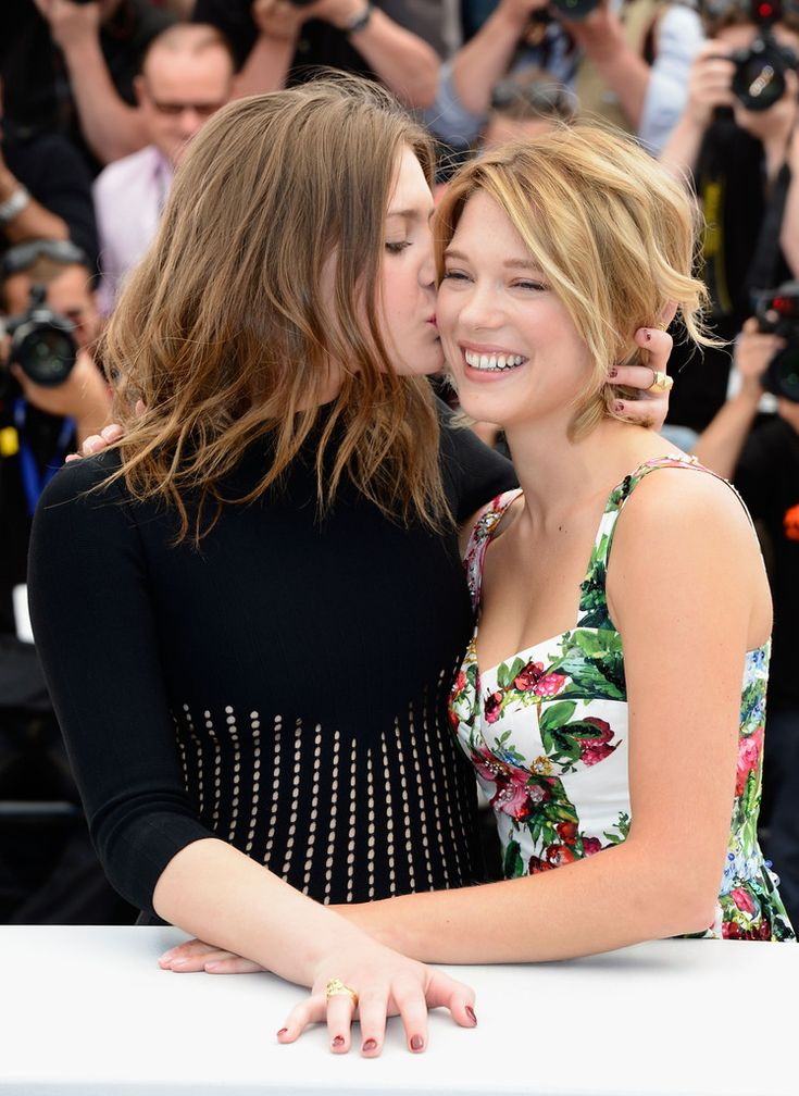 Léa Seydoux and Adele Exarchopoulos at the...