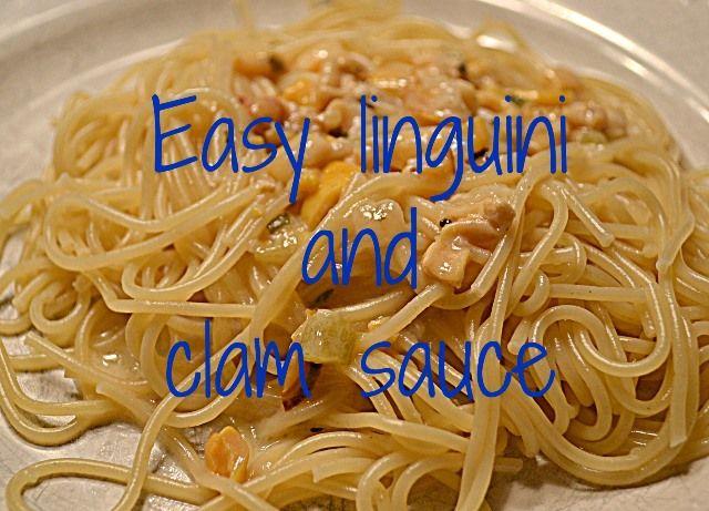 Easy linguini and clam sauce w/ Progresso® Recipe Starters