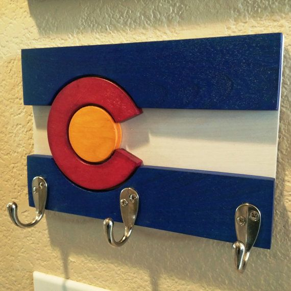 3D Colorado Flag Key Rack von IndianPeaksArts auf Etsy