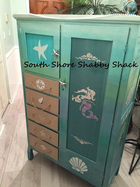 Hey, I found this really awesome Etsy listing at https://www.etsy.com/listing/231636143/lil-mermaid-dress-up-cabinet-antique