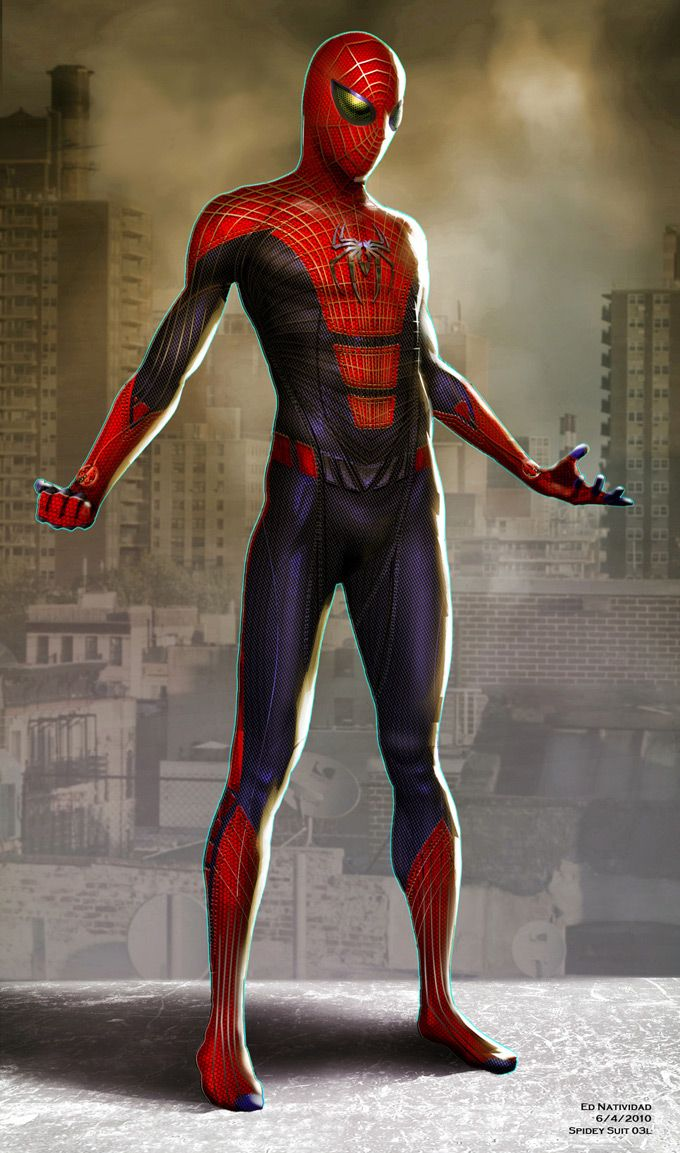 Spidey Suit 30L | The Amazing Spider-Man Concept Art by Ed Natividad.