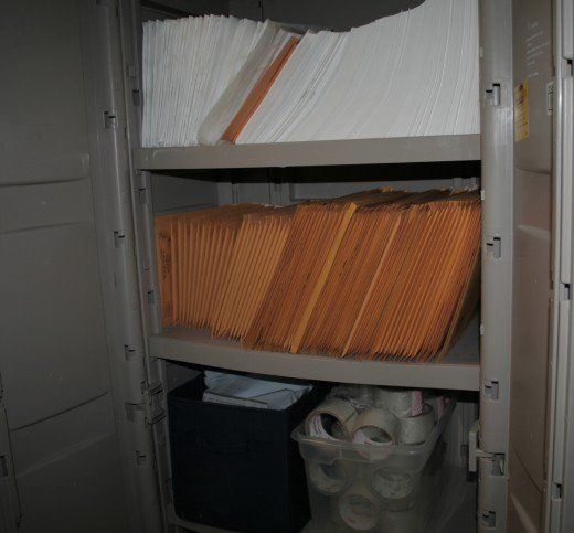 Plastic cabinet kept outside of my inventory space where I keep my packing supplies.