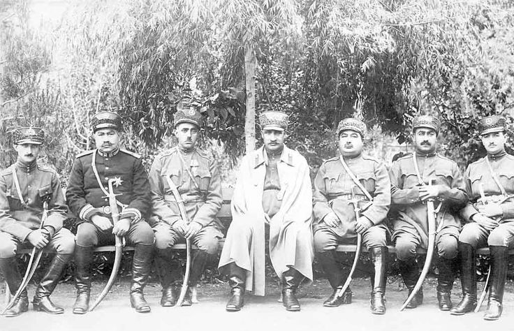 Reza Khan (1878–1944) with Group of Officers. While the Shah of Persia was dallying at French watering places and enjoying the effete pleasures of modern Europe, Reza Khan was placed in command of the Persian Army through his abilities, fortified by the knowledge that he had a well-trained army at his back he became Persia's practical ruler and deposed the Shah. Shah of Iran (Persia) from 15 December 1925 until he was forced to abdicate by the Anglo-Soviet invasion of Iran on 16 September…