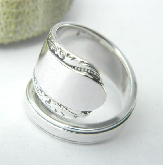 Perfect Sterling Silver Spoon Ring Art Nouveau by CaliforniaSpoonRings