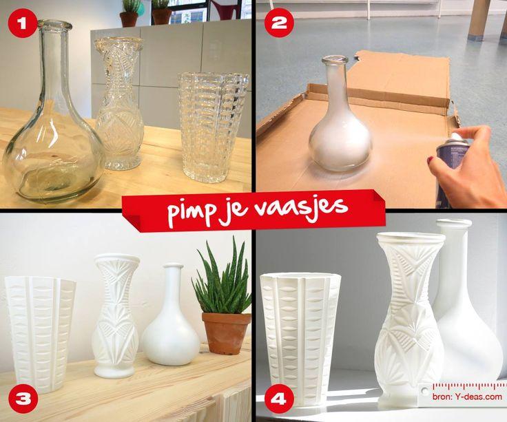 Praxis DIY | Pimp je vaas! Spuit hem in een kleur en je hebt weer 'nieuwe' vazen in huis.