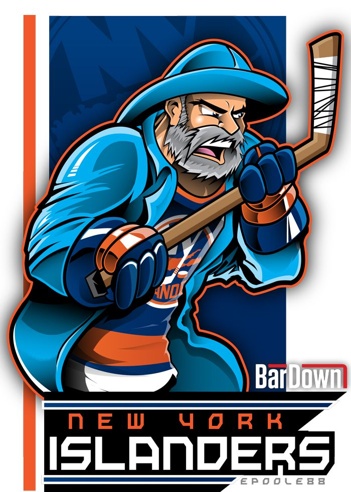 Good lord, Eric Poole actually manages to make the dreaded New York Islanders fisherfool look good.  More of his work at http://epoole88.tumblr.com