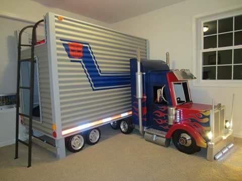 Kids semi truck bed
