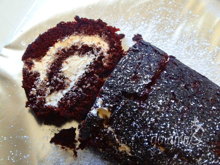 Chocolate Swiss Roll with Salted Caramel Frosting