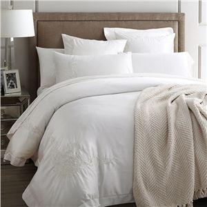 布団セット 掛け布団カバー ボックスシーツ まくらカバー 寝具カバー 敷き布団カバー ふとん ベッド共用 純綿刺繍 新生活 4点セット 白色 B04