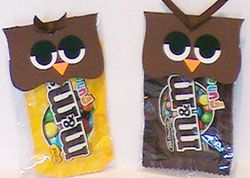 M&M's Owl Halloween Candy Treat