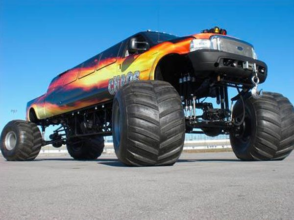 Monster Trucks can run up and over most man-made barriers, so they are equipped with remote shut-off switches, called the Remote Ignition Interruptor (RII), to help prevent an accident if the driver loses control at any time