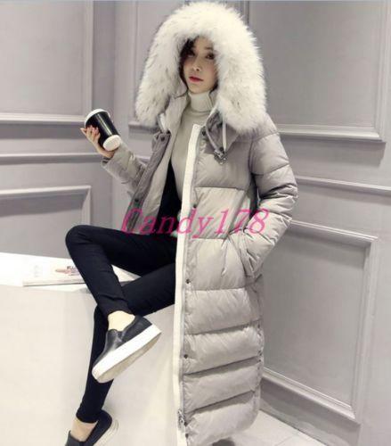 081e6e48b Fashion Winter Womens Korean Casual Hooded Long Puffer Coat Down ...