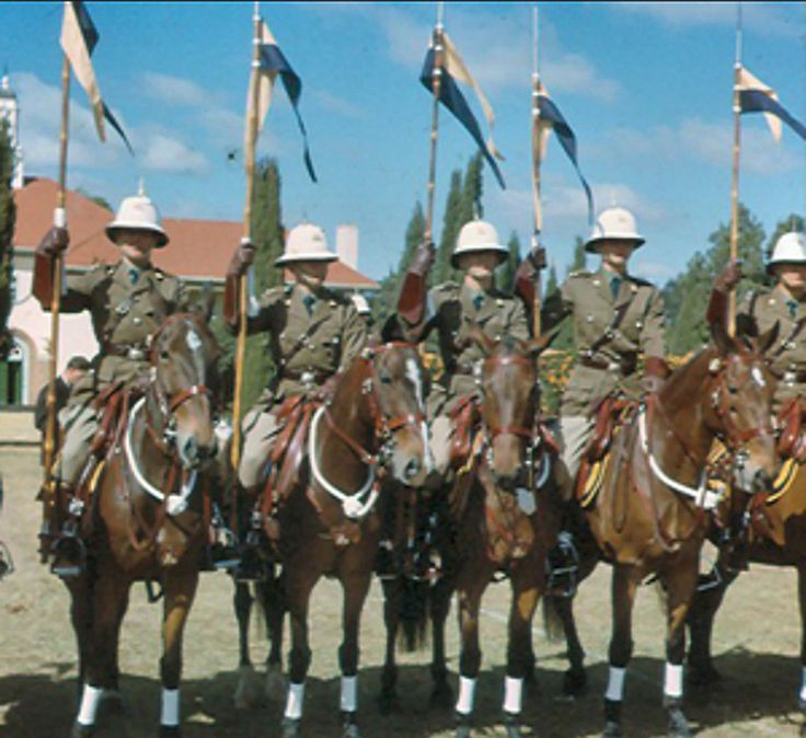 British South Africa Police of Rhodesia. Ceremonial dress.