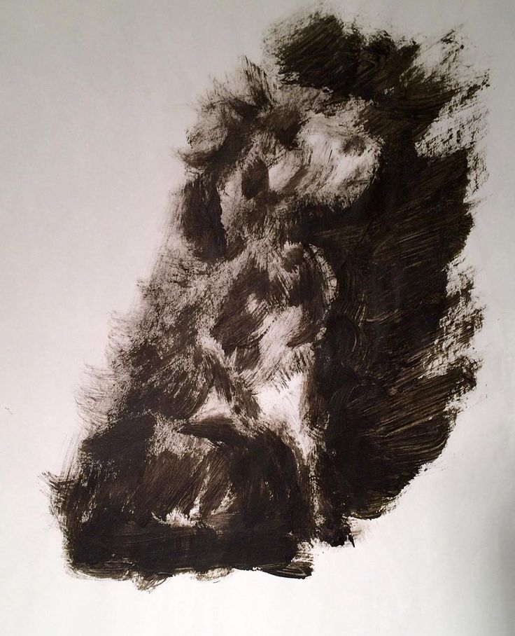 """Cleaning a brush- here I made a quick sketch of my sisters dog """"Athene"""". I used the rest of the paint on the brush - I alway do that both to practice and to spare the zink/drain of too much paint. Copyright by www.anne-Mette.com #funpainting #cleaningbrushes #www.anne-mette.com #dog #doglover #dogfromgreece #atelier #artist #danishartist #sketch #copenhagenart #artgalleries #painting #paintingoftheday #artlover #athene #blackandwhite #black #pinterest #pin #studio #www.anne-mette.com"""