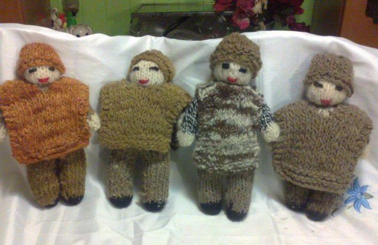 muñecas de lana chilotas