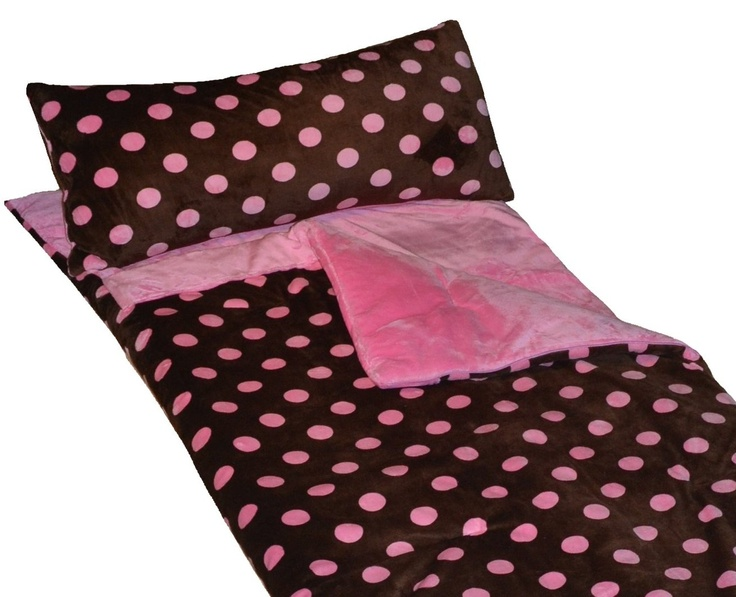 Girls LOVE Cricketzzzs Brown And Pink Polka Dot Sleeping Bag A Top Seller For Sure