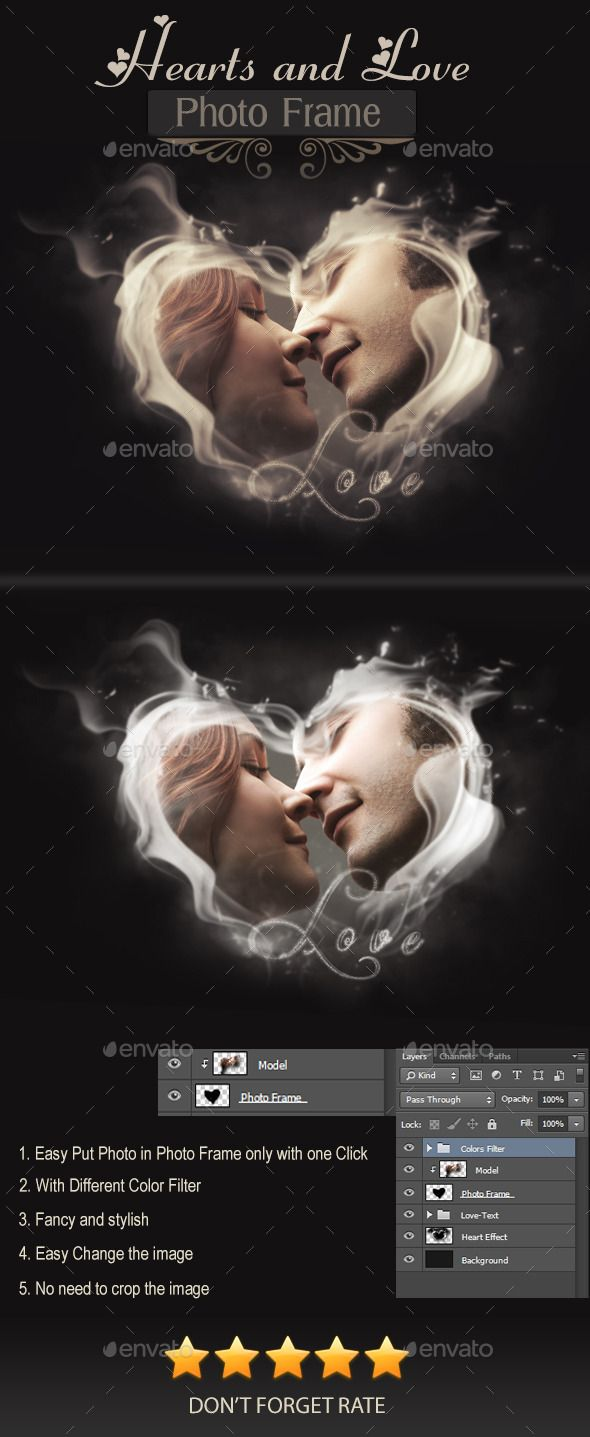 Hearts and Love Photo Frame Template PSD #design Download: http://graphicriver.net/item/hearts-and-love-photo-frame/9011232?ref=ksioks