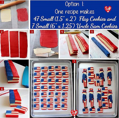 SugaryWinzy Uncle Sam Flag Cookies5 by SugaryWinzy, via Flickr