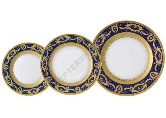 Zestaw 18 talerzy dla 6 osób Imperial Gold Cobalt Zepter