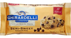 Ghirardelli chocolate chips (better than nestle or hershey in my opinion) $4