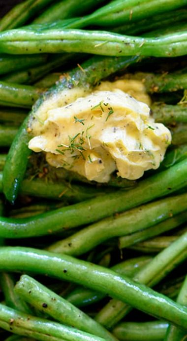 skillet green beans with dill herbed butter skillet green beans with ...
