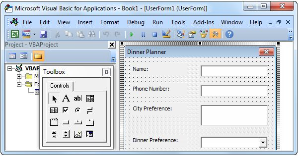 This chapter teaches you how to create an Excel VBA Userform.