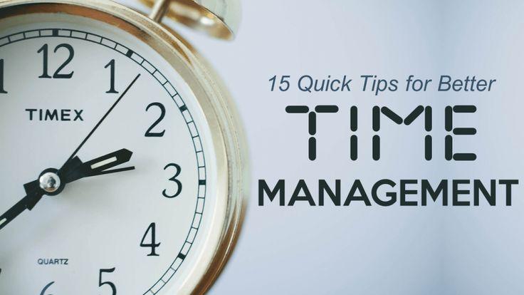 Tips for Better Time Management- PowerPoint Presentation Cover Slide