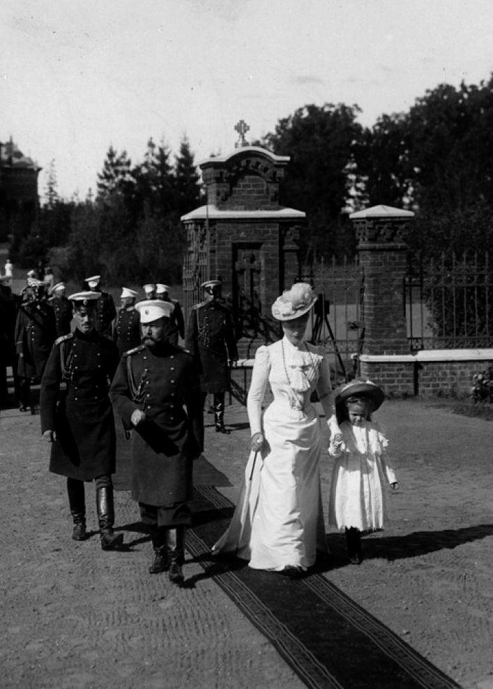 Император Николай II и Александра Федоровна в Спале. 1900-е. Emperor Nicholas II and Alexandra Feodorovna in Spala. 1900s. [original]