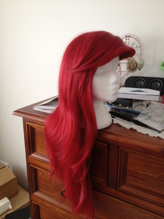 Ariel the Little Mermaid Wig Custom styled by EmrickDesigns