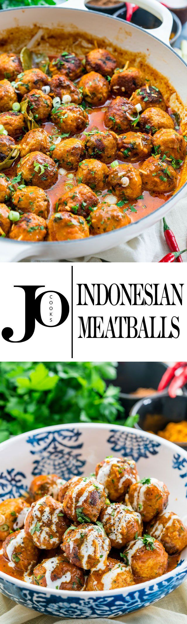 These spicy chicken Indonesian meatballs come complete in a creamy coconut curry sauce that really is quite easy to prepare and are out of bounds delicious!