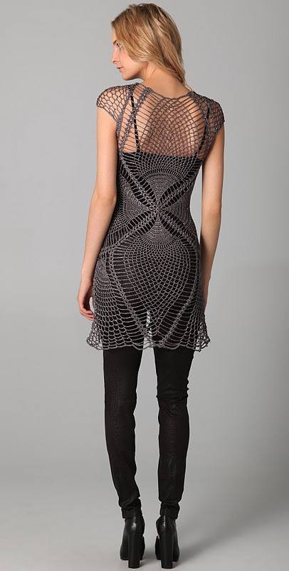 Outstanding Crochet: Jen Kao. Crochet Lace Tunic.