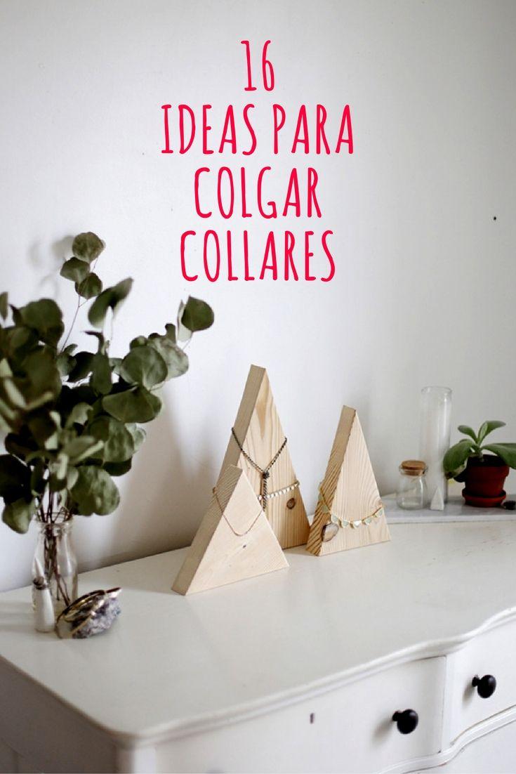 M s de 1000 ideas sobre colgar collares en pinterest - Para colgar pendientes ...