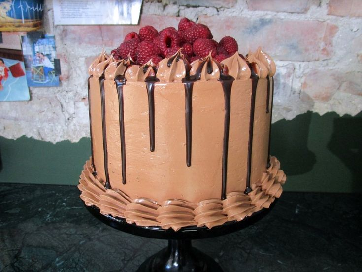 Double Chocolate and Raspberry Cake — Roy Fares
