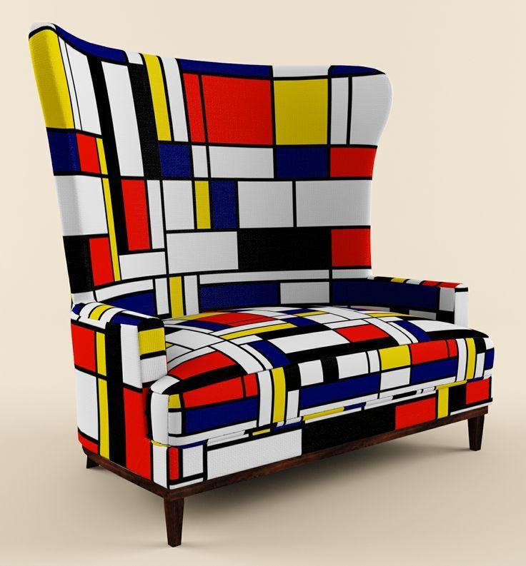 Mondrian Armchair Поиск в Google Inredning Pinterest