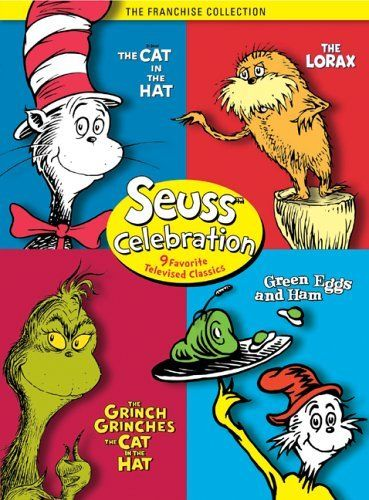 Seuss Celebration (The Grinch Grinches the Cat in the Hat / The Cat in the Hat / Green Eggs and Ham / The Lorax) - Instructional Resource Center DVD 0347 - check availability @ https://library.ashland.edu/search/m?SEARCH=dvd+0347