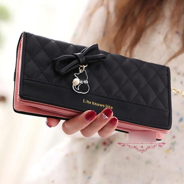 697ca02dc897 Women Wallet Female Purse Money Bag Long Women Leather Purse Card ...