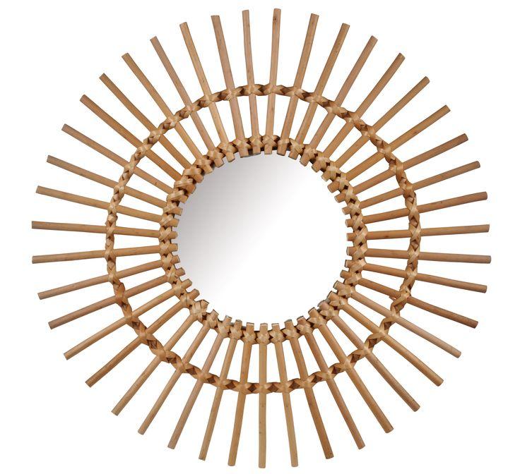 miroir soleil 58 bahia naturel nordic chic miroir. Black Bedroom Furniture Sets. Home Design Ideas