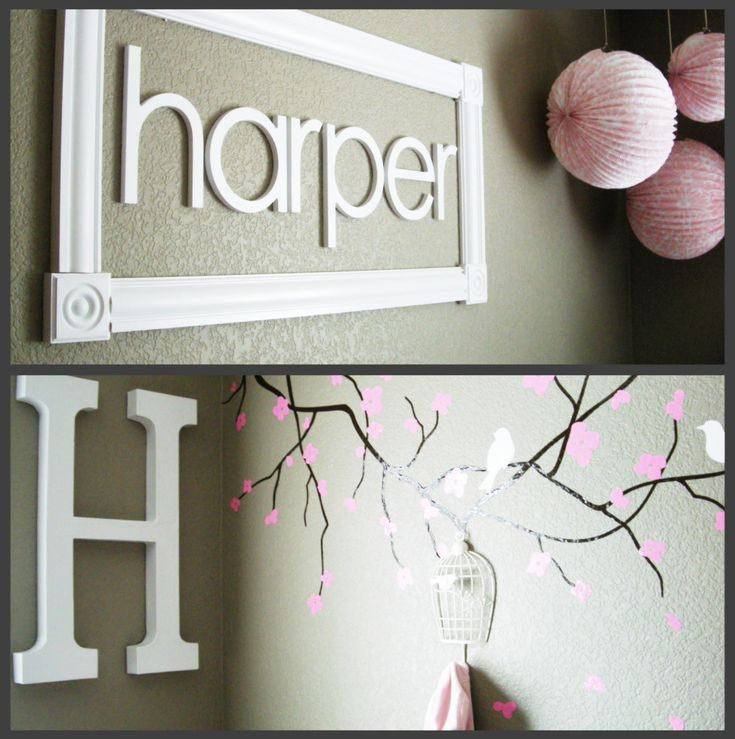 framed name: Babies, Girls Names, Pink Nurseries, Baby Ideas, Baby Girls, Baby Rooms, A Frames, Nurseries Ideas, Kids Rooms