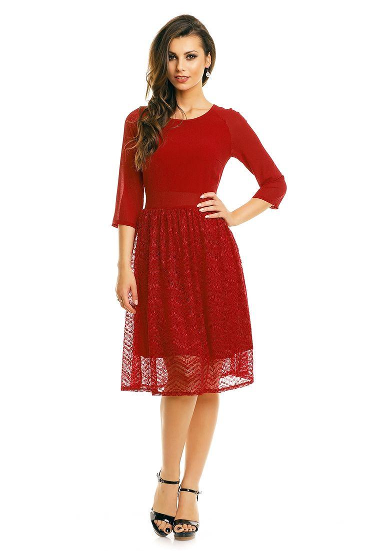 Rød kjole Salma