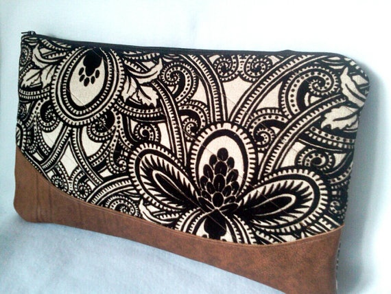Upholstery Clutch Purse Upholstery Fabric Oversized by bellehattie, $70.00