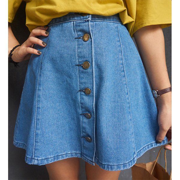 The 25  best Denim skirts for women ideas on Pinterest | Denim ...