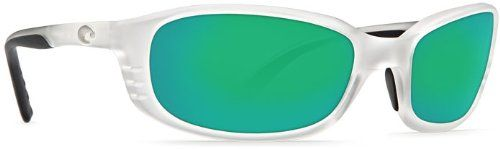 Costa Del Mar Sunglasses - Brine- Glass / Frame: Matte Crystal Lens: Polarized Green Mirror 400 Glass