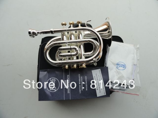189.05$  Buy now - Professional  Bach Bb Pocket Trumpet Downward Bb Mainly The Surface Of The Silver Plated Gold Press Key Pocket Trumpet  #shopstyle
