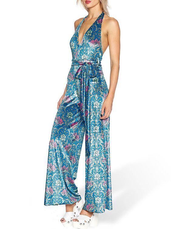 Divine Nouveau Velvet Jumpsuit - LIMITED (AU $120AUD / US $85USD) by Black Milk Clothing