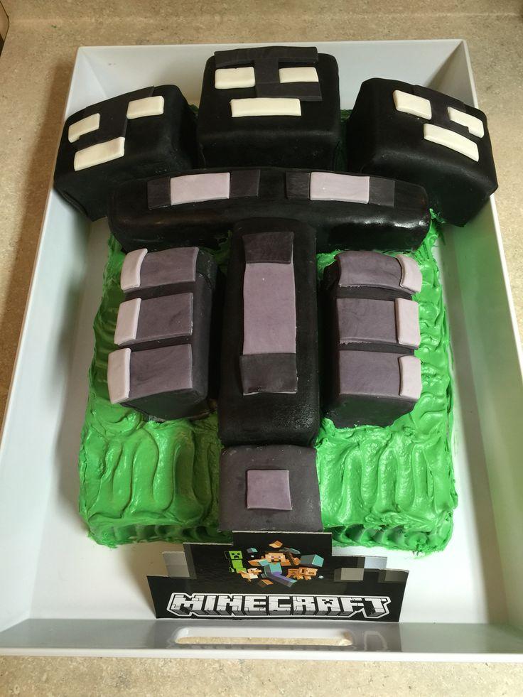 #minecraft #wither birthday cake