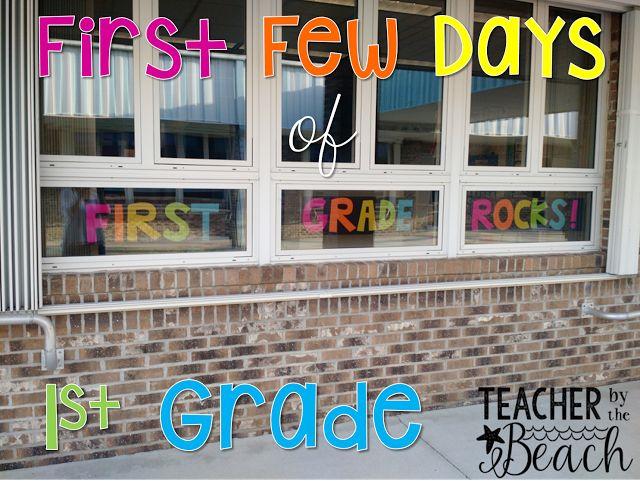 First 3 Days of 1st Grade